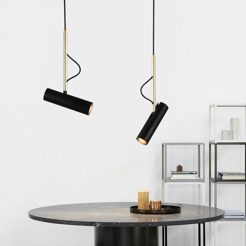 Nordic Pendant Light LED pendant lamp Aluminium Hanging Lamp For Living Room Kitchen Fixtures Luminaire Lighting black lights