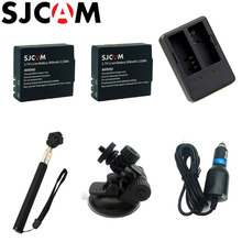 SJCAM 900mAh Backup Rechargable Li-ion Battery Car Charger Monopod For SJCAM SJ4000 SJ5000 SJ5000X Elite M10 WiFi Action Camera