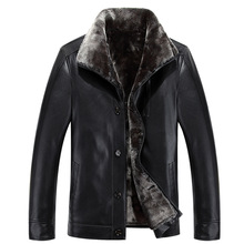 Russian Winter Leather Jackets Men Faux Fur Coats Men's Leather Jacket Casual Thicken Overcoat For Man 5XL Chaqueta Cuero Hombre