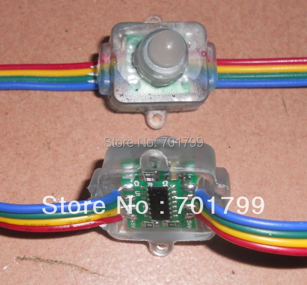 led pixel node,WS2801,DC5V input,IP68;50pcs a string