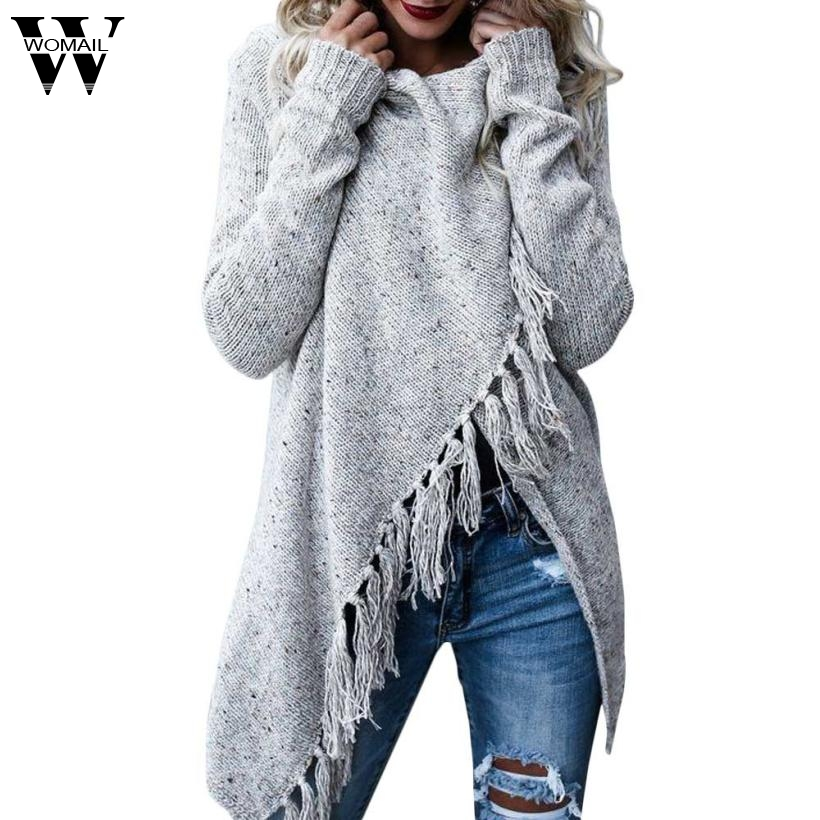 Sweater Cardigan 2017 Sweater turtleneck Women Long Sleeve Sweater Casual hand knitted Cardigan Tassels Shawl fashion nov9