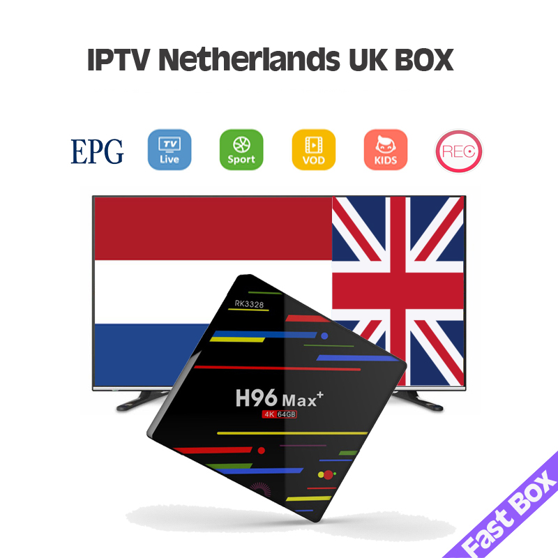 World Iptv UK Dutch France Italy Spain Germany H96 Max Plus Android 8.1 TV Box H96max Brazil Adult Iptv M3u Code For Iphone Mag