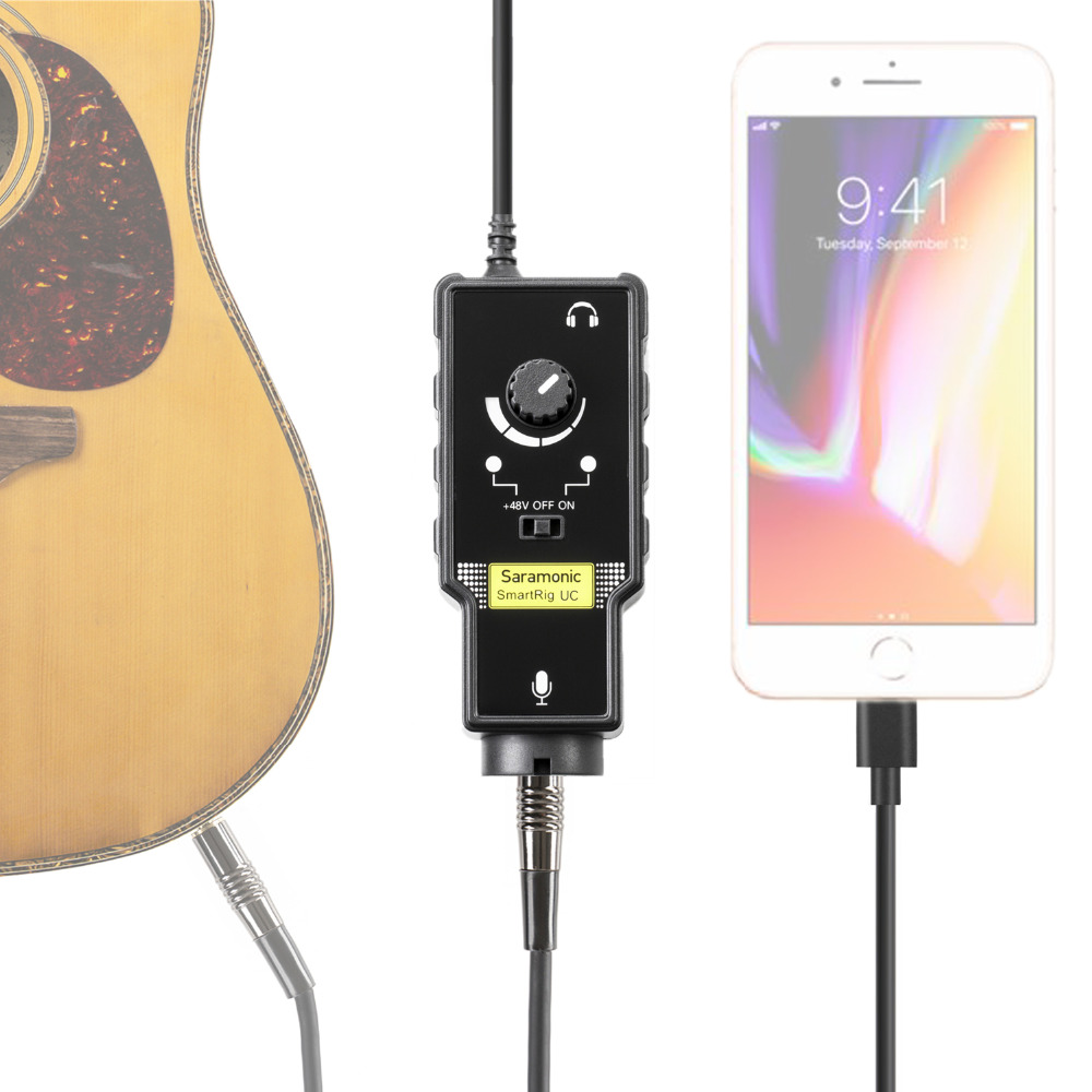 все цены на Saramonic XLR Karaoke Microphone Preamplifier guitar interface Audio Adapter for Apple iPad iPhone 8 7 7 plus x ipad ipod