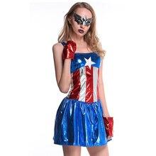 Captain America Costume Plugsuit Superhero Cosplay Women Skinny Zentai Suit Ladies Captain America Role Play Sexy