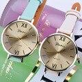 2016 Nova Marca de Relógios Mulheres Hodinky relógio Coste Relógios pulseira de couro de Quartzo-relógio Montre Femme saat bayan relogios feminino