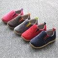Insole12.5 ~ 17.5 cm crianças shoes para o bebê meninos shoes meninas canvas shoes criança casual shoes deslizar sobre