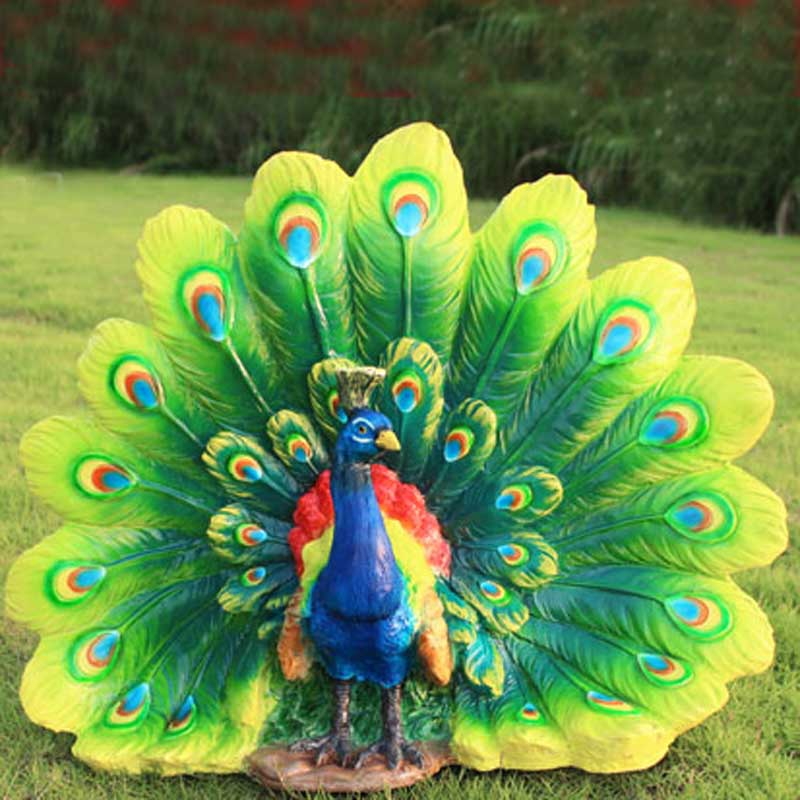 Patung Resin Kerajinan membuka layar Beruntung Burung