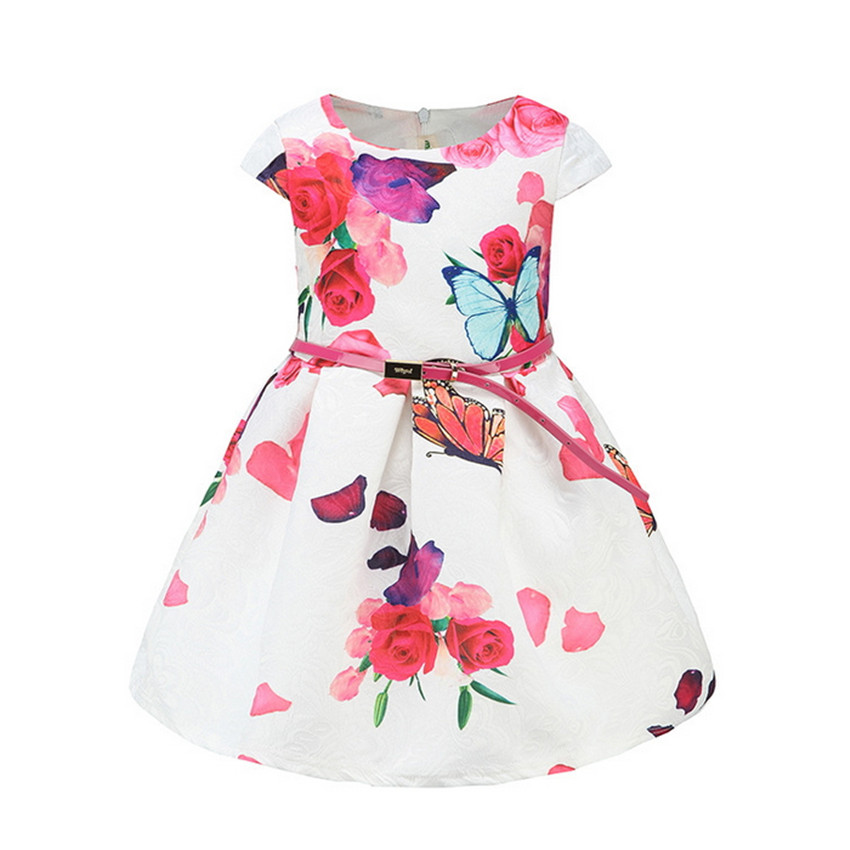 ede5717b8c79 Image Girls Floral Dress Summer 2018 Brand Neiges Costume Princess Dress  With Bow Kids Dresses for
