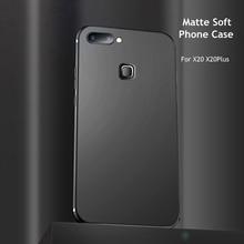 Luxuy Soft TPU Frosted Phone Case For VIVO X20 X20Plus Matte Anti-fall Anti-fingerprint Full Back Cover Shell  plus