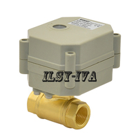 DN10 G3/8 brass electric ball valve,two way CR03 three wires automatic control electric ball valve