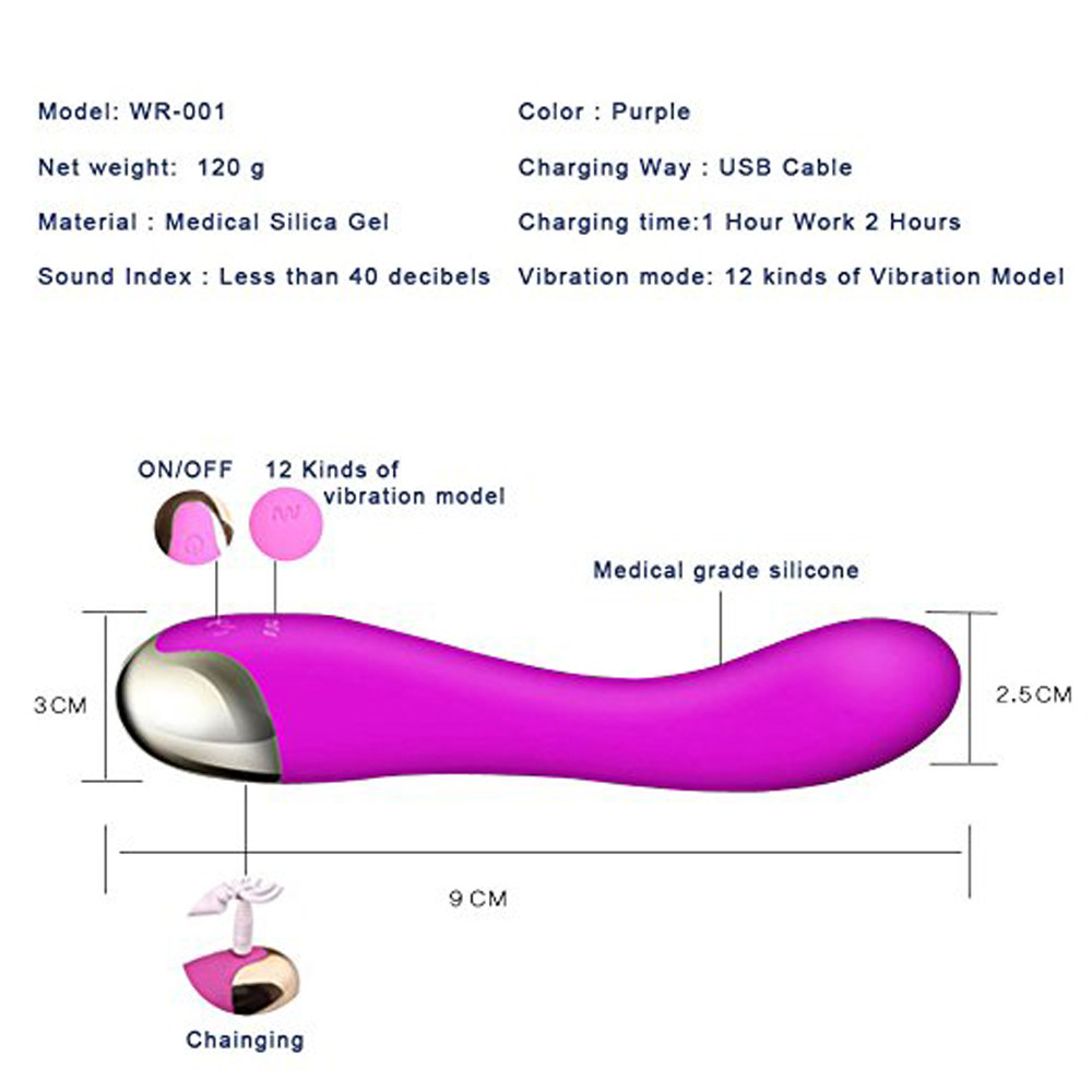 woman usb vibrator sex toys wand Waterproof Rechargeable clitoris stimulator a801 c