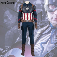 Hero Catcher High Quality 2019 Captain America Costume Endgame Captain America Cosplay Costume For Men
