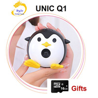 UNIC Q1 Mini Mobile Projector Handheld Micro DLP Home Theater Proyector Add 16G micro SD card gift