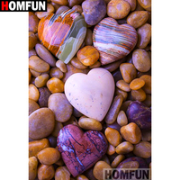 "HOMFUN Full Square/Round Drill 5D DIY Diamond Painting ""Love stone"" Embroidery Cross Stitch 3D Home Decor Gift A11515"