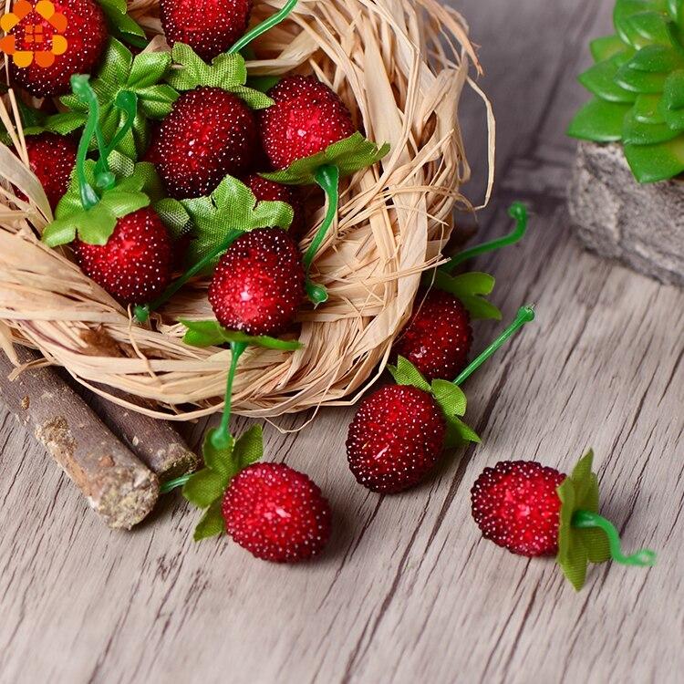 10 unids falso fresa baya flor artificial home garden & party decoración de la b
