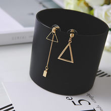 Modern Women's Earrings 2018 Asymmetry Long Tassel Women Dangle Earrings Korean Fashion Refreshing Female Jewelry Accessories(China)