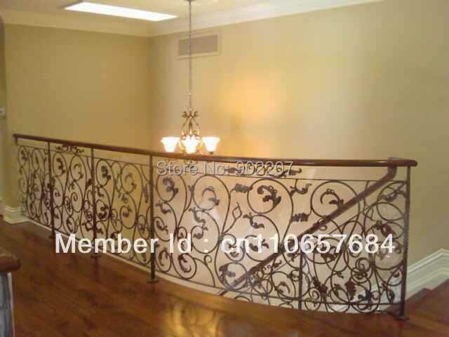 barandilla de hierro forjado barandilla para escaleras pasamanos de la escalera de hierro forjado de hierro forjado