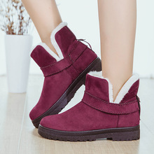 Buy 2018 Winter Women Boots Short Snow Boots Ankle Fur Boots Large Size 35-44 Platform Shoes Woman Slip-On Fashion Designer Brand directly from merchant!