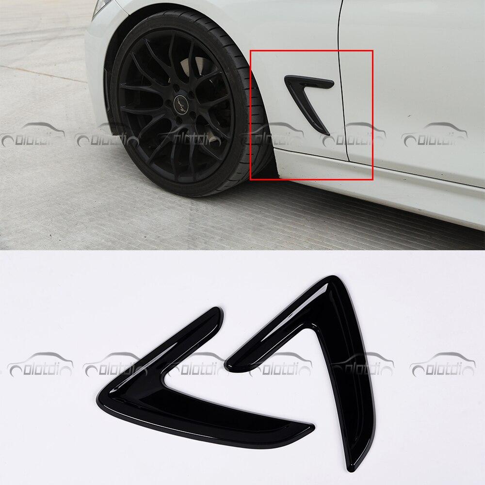 OLOTDI pour BMW série 3 2012-2013 318 320 328 330 autocollants de carrosserie de style de voiture ABS autocollant de garde-boue de flux d'air 2 pièces