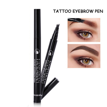 1 PC Microblading Tattoo Eyebrow Pencil Ink Fork Tip Sketch Pen Eye Brow Women Makeup Cosmetics Dropship 5 Colors To Choose