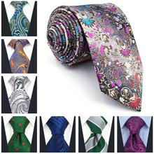 Paisley Floral Dot Mens Neckties Silk Extra long size Party Ties for Men Wedding Acceossories Fashion