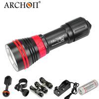 Archon D26VR/W32R CREE светодиодный белый/красный фонарик для подводного плавания Подводная фотосъемка видео факел 26650 Батарея включены