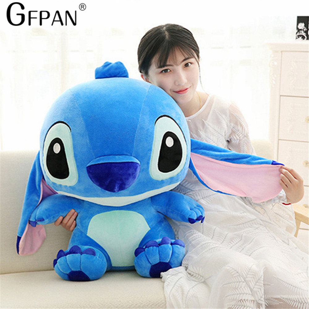 Huge Size 80cm Lovely Stitch Plush Doll Anime Lilo and Stitch Cute Stich Stuffed Cartoon Toys for Children Kids Birthday Gift kawaii stitch plush doll toys anime lilo and stitch 25cm stich plush toys for children kids birthday gift