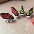 Handmade Girl Doll Shoes Chines Qing Dynasty Flag Shoes for Kurhn Doll or Bjd 1/6 Doll  Handicrafts Doll Accessories 2 pairs/lot