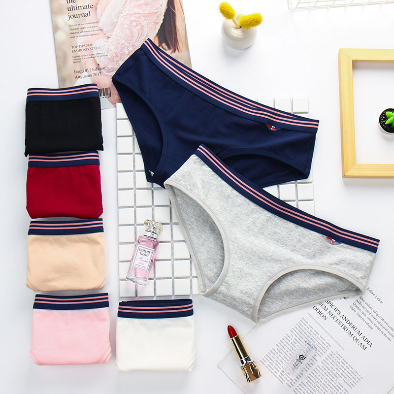 3pieces Cotton briefs underwear panties for woman Low Waist High Quality Fashion Comfort casual sexy Panty(China)