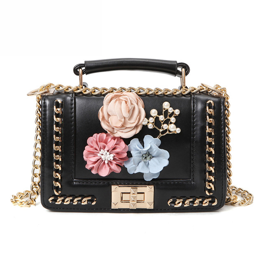 Floral Style Women Mini Handbags Ladies Famous Brand Luxury Shoulder Bags Chains Shopping Crossbody&Messenger Bag For Female