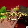 Venta caliente de la Venta Directa Freeshipping 163*40mm de Imitación de Oro de Aleación de Zinc Manija Del Cajón de la Caja De Regalo De Madera Decorado