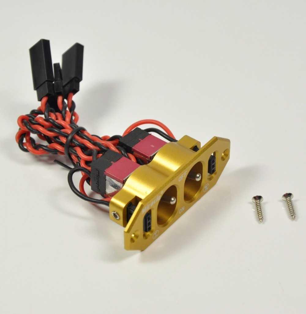 Engine US SELLER//SHIP Heavy Duty RX Dual On//Off Switch W// 4-Cable Lock RC Servo