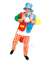 Halloween Costume For Men Cosplay Clown Costume Hat Shirts Coat Pants Funny Party Dresses Suit Game