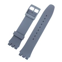 лучшая цена man Ms  Watch accessories for Swatch strap buckle SWATCH silicone watch band 17mm 19mm 20mm rubber strap