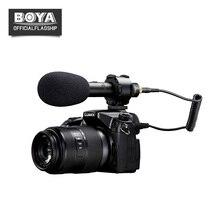 BOYA BY-PVM50 3.5mm Estéreo X/Y Vídeo Microfone Condensador para Canon DSLR Camera Filmadora Gravador De Áudio Mic Livre brisa