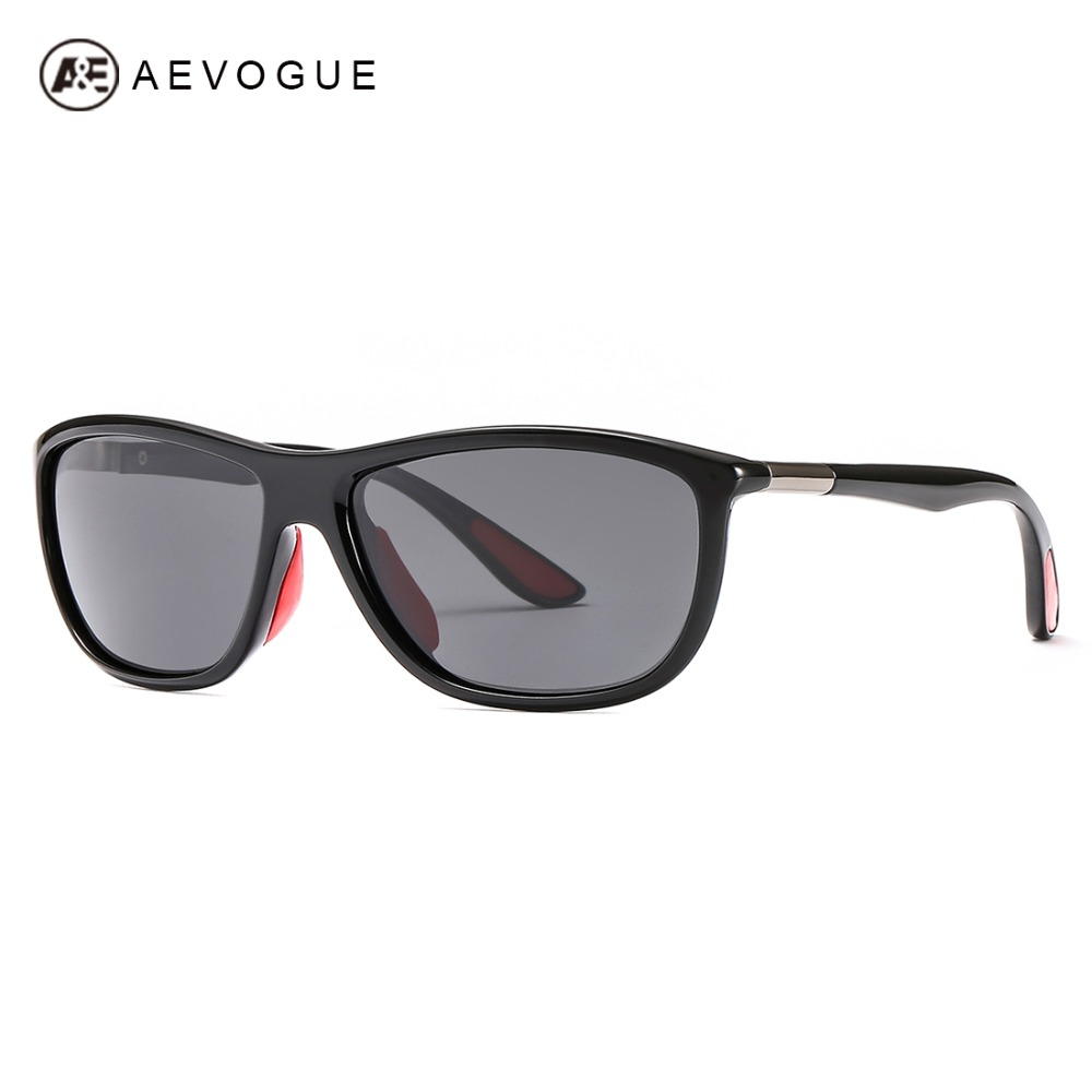 Unidade AEVOGUE Polarizada Óculos De Sol Dos Homens de Moda Marca Designer  Óculos Shades Oversized Unisex c640caf8c6