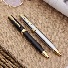 купить 1PCS Luxury high quality Black for Business office school  Ballpoint Pen Golden Clip office&school supplies gel pen по цене 207.45 рублей