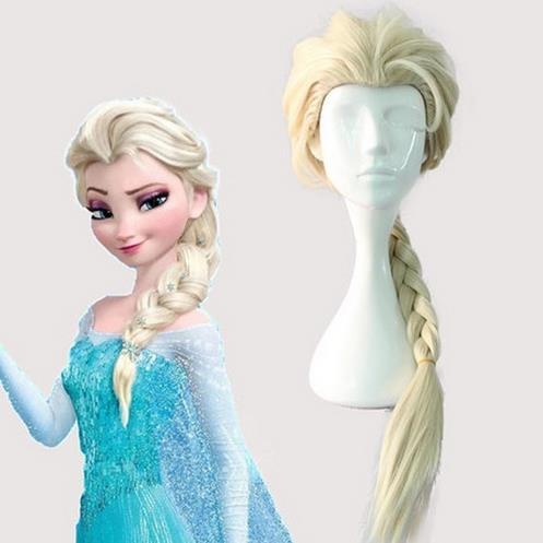 Adult Kids Elsa Anna Cosplay Hair Wigs Party Supplies 70cm 60cm