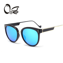 OSG classic Newest CatEye Sunglasses Women Brand Designer Twin-Beams Sun Glasses for lady Mirror Sunglass candy colorful