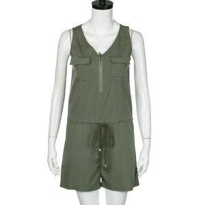 Women's casual jumpsuit solid color pocket loose comfortable temperament sleeveless summer ladies jumpsuit#D18