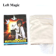 Muffler To Dove Magic Tricks Scarf Magic Props Gimmick Illusions Magic Trick Accessories Stage Professional(China)