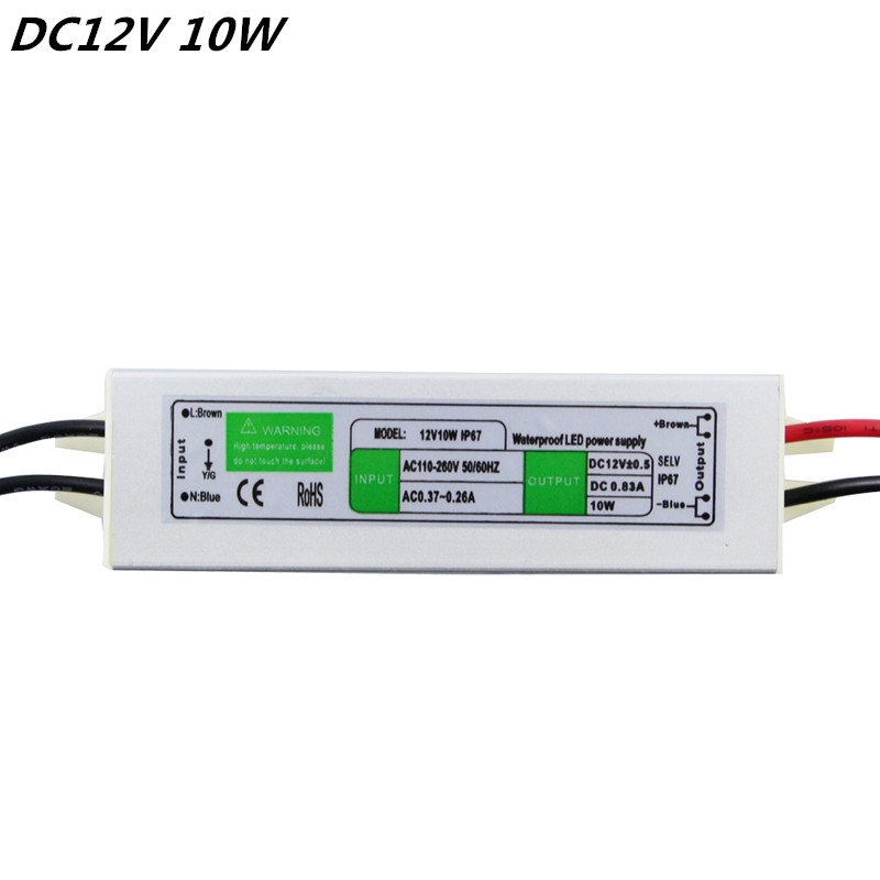 Superior Quality DC12V 10W IP67Waterproof LED Driver s