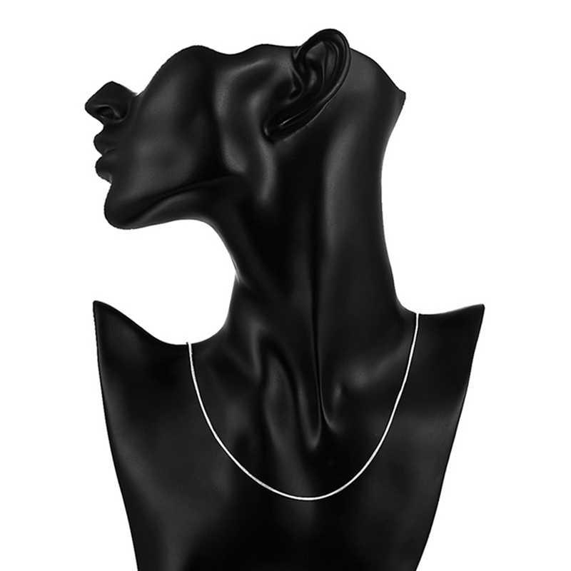 Yeni Moda 16 inç-30 inç Zincirler Kolye 1mm Genişlik Sıcak Mens Womens Satmak Gümüş Yılan Zincir Takı yılan Zincir Kolye