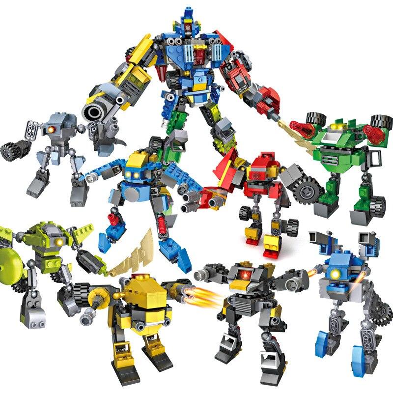 8 Pcs/set Robot Building Blocks Toy Assembled Robot Blocks of Childrens Toys Model Gift Compatible with Legoe Christmas Gift8 Pcs/set Robot Building Blocks Toy Assembled Robot Blocks of Childrens Toys Model Gift Compatible with Legoe Christmas Gift