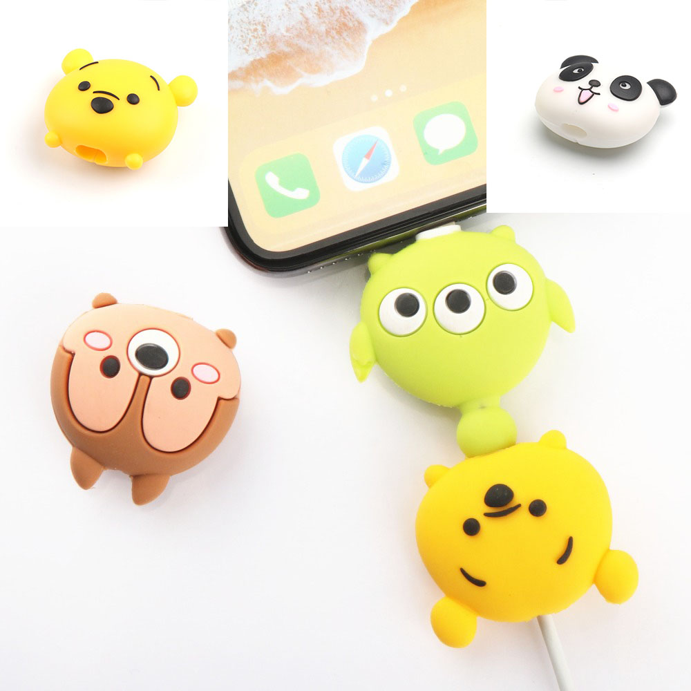 Cute Creative  Cartoon Animal Cable Protector Design  For Iphone Usb Cable Chompers Holder 11