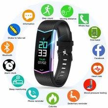 LV08 pulsera inteligente rastreador de Fitness pulsera de presión arterial Monitor de ritmo cardíaco con podómetro banda deportiva para hombres y mujeres reloj