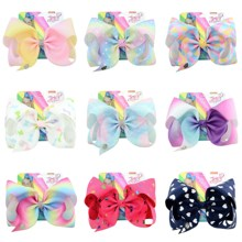 8 Party Bows Cute Hair Accessories Heart Cartoon Handmade Hairpin Star Large Clip For Girl