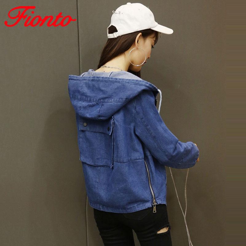2017 Autumn Basic Coat Women Denim Jeans Jacket Female Winter Denim Slim Jacket For Girl Casual Zipper Short Tops Outwear SY1857