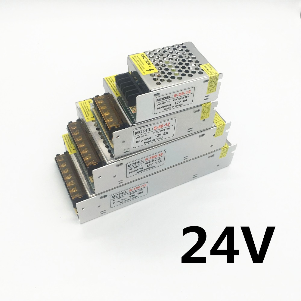 DC 24V 1A 2A 3A 5A 8A 10A 15A 17A 20A 25A Lighting Transformer LED Driver Power Adapter Switch Power Supply For LED Strip Lights