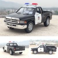 Gift For Boy 1 36 12 5cm Cool Dodge Pickup Police Man Car Truck Patrol Wagon